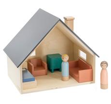 Sebra Puppenhaus mit Möbeln & Puppen