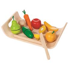 PlanToys Servierbrett Obst & Gemüse