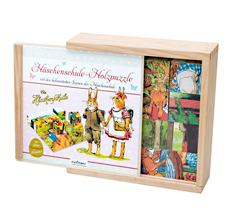 Die Häschenschule Holzwürfelpuzzle