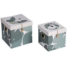 Done by Deer Aufbewahrungs-Box Tiny Tropics L 2er-Set