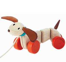 PlanToys Ziehtier Happy Puppy