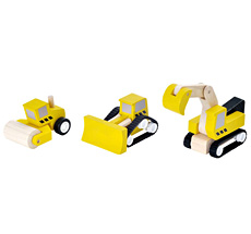 PlanToys Straßenbau-Set •