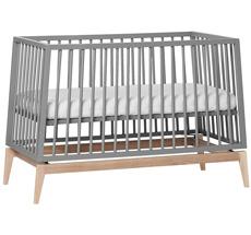 Leander Luna Babybett 120x60 cm Grau/Eiche