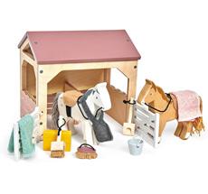 Tender Leaf Toys Pferdestall für Puppenhaus