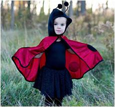 Kostüm Babycape Marienkäfer