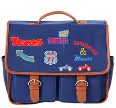 Room Seven Schultasche Badges Blau