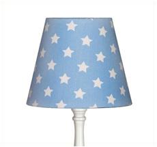Lampenschirm klein Sterne Hellblau
