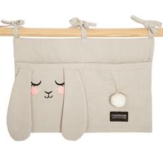 Roommate Tasche für das Kinderbett Bunny Bio-Baumwolle
