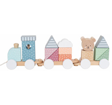 JaBaDaBaDo Zug mit Bausteinen Teddy