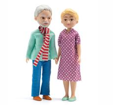 Djeco Puppenhaus Figuren Großeltern