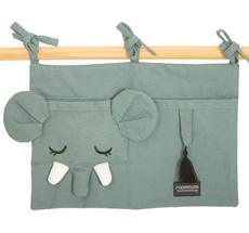 Roommate Tasche für das Kinderbett Elephant Bio-Baumwolle