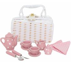 JaBaDaBaDo Geschirr mit Picknickkorb Pink