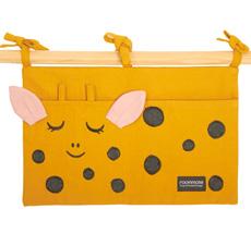 Roommate Tasche für das Kinderbett Giraffe Bio-Baumwolle