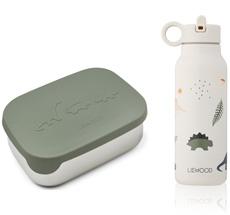 LIEWOOD Lunch Box Set Joni Dino faune Green Mix