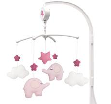 JaBaDaBaDo Musik-Mobile Elefant Pink