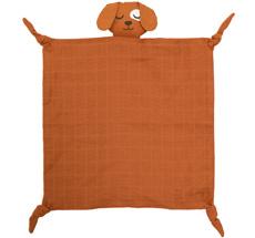 Roommate Kuscheltuch Dog Brown Bio-Baumwolle