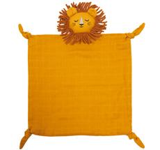Roommate Kuscheltuch Lion Ochre Bio-Baumwolle