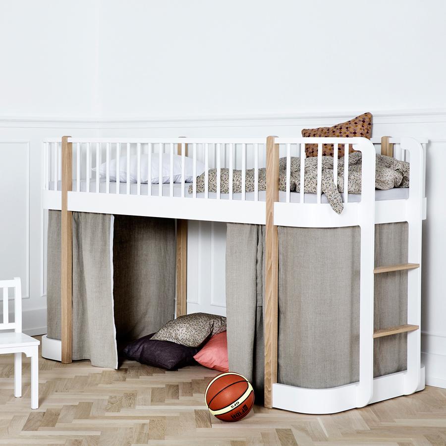 oliver furniture halbhohes hochbett wood eiche online kaufen emil paula kids. Black Bedroom Furniture Sets. Home Design Ideas