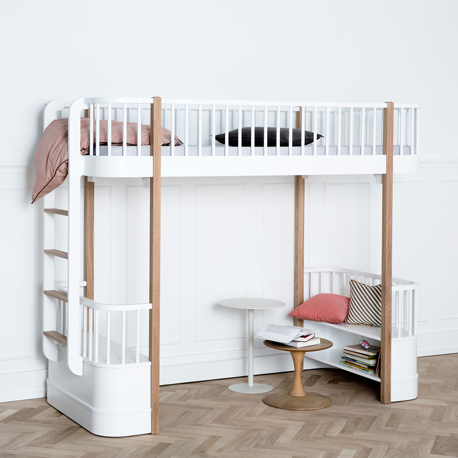 oliver furniture hochbett wood eiche online kaufen emil paula kids. Black Bedroom Furniture Sets. Home Design Ideas
