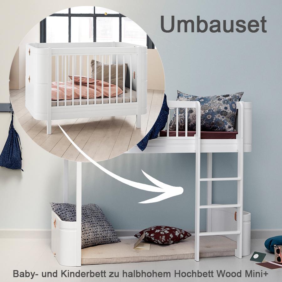 Perfekt Oliver Furniture Umbauset Für Baby  Und Kinderbett Wood Mini+ Zum Halbhohen  Hochbett Weiß