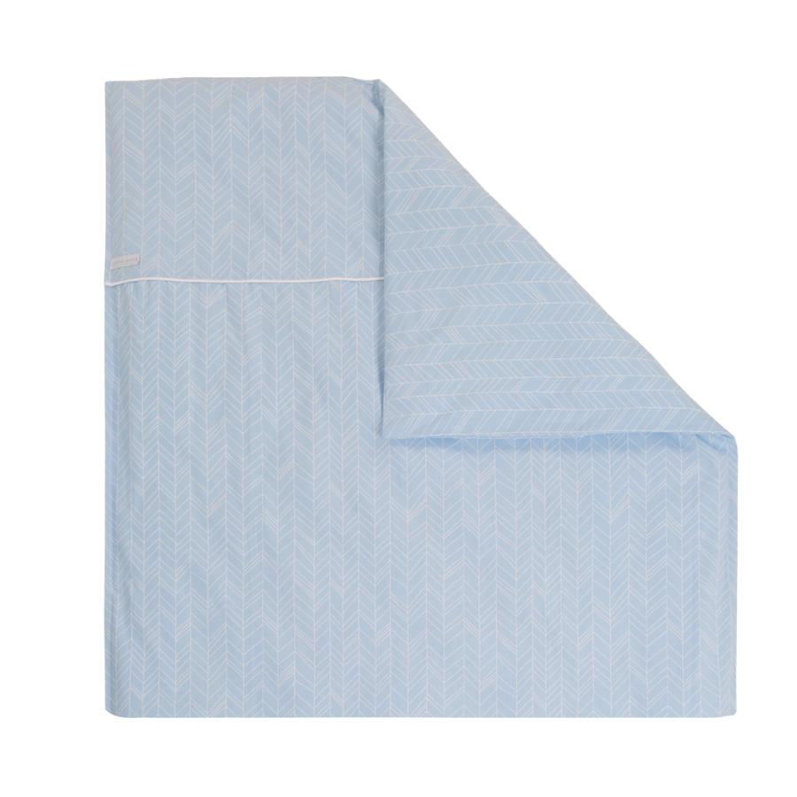 little dutch kinderwagen kissenbezug 80x80 blue leaves. Black Bedroom Furniture Sets. Home Design Ideas