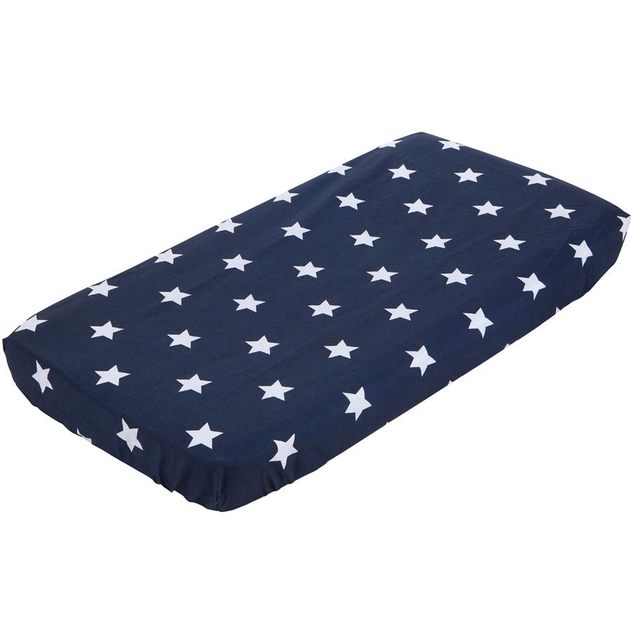 little dutch spannbetttuch babybett stars marine 60x120. Black Bedroom Furniture Sets. Home Design Ideas