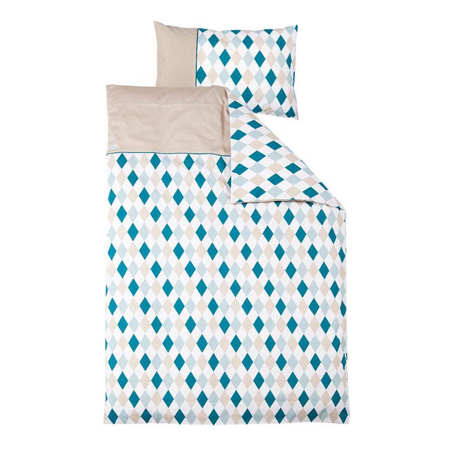 little dutch bettw sche rauten mintgr n online kaufen emil paula kids. Black Bedroom Furniture Sets. Home Design Ideas