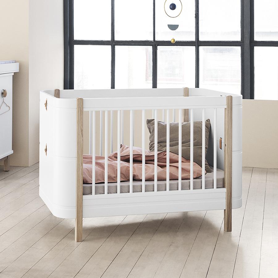 Oliver Furniture Baby- und Kinderbett Wood Mini+ Weiß/Eiche online ...