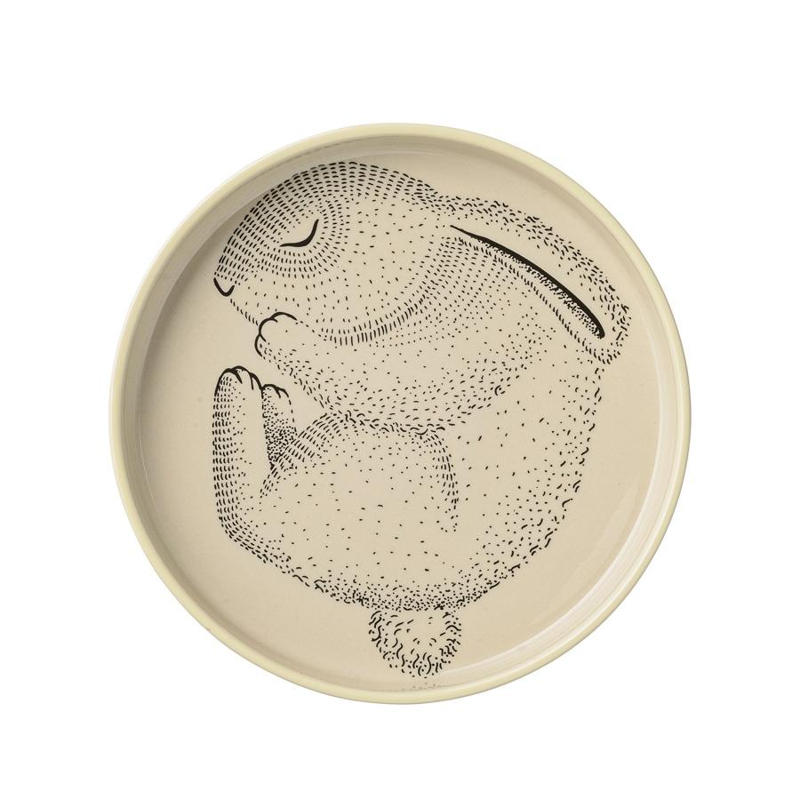 Bloomingville speiseteller adelynn rabbit lemon online for Bloomingville kinder
