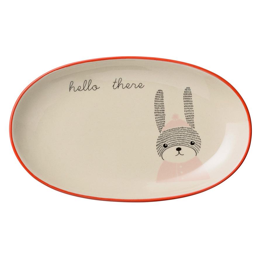 Bloomingville teller oval mollie rabbit nude white online kaufen emil paula kids - Bloomingville kinder ...