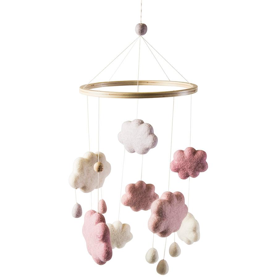 sebra baby mobile filz wolken m dchen online kaufen emil paula kids. Black Bedroom Furniture Sets. Home Design Ideas