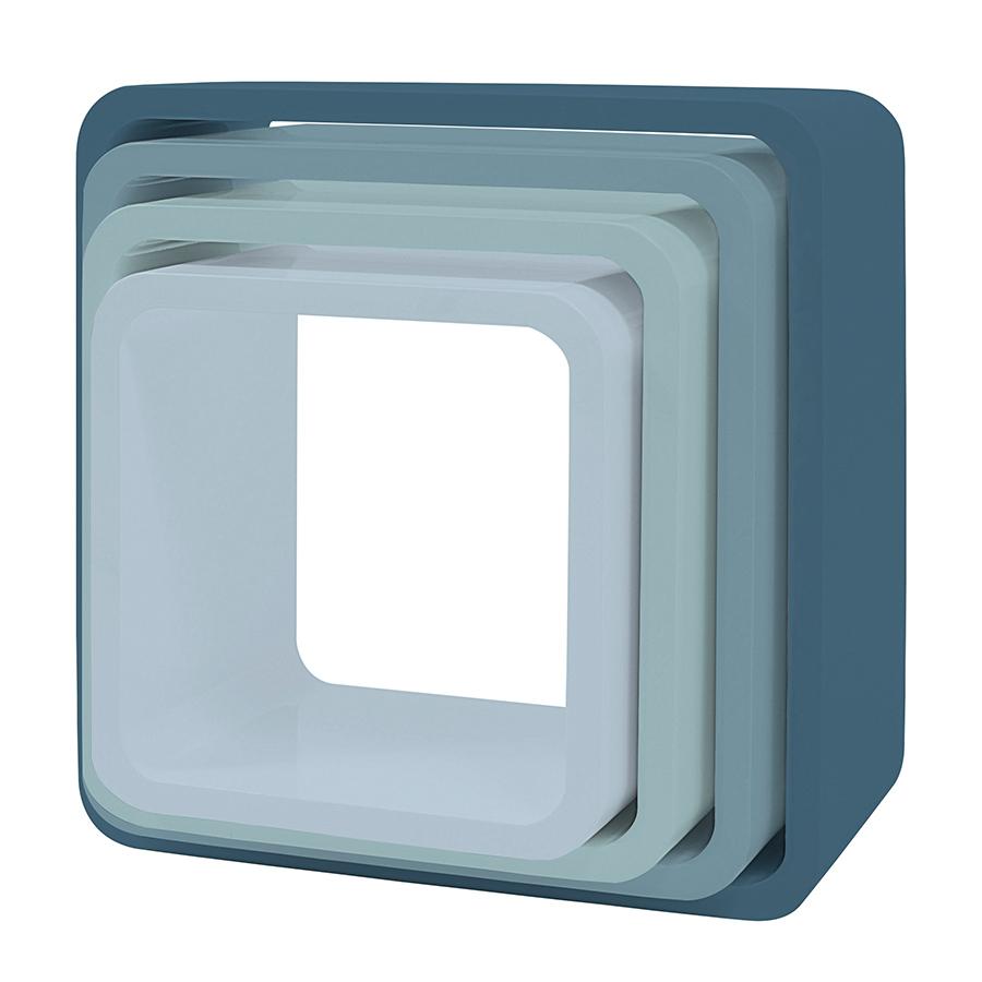 sebra cube regale 4er set quadratisch matte wolkenblau online kaufen emil paula kids. Black Bedroom Furniture Sets. Home Design Ideas