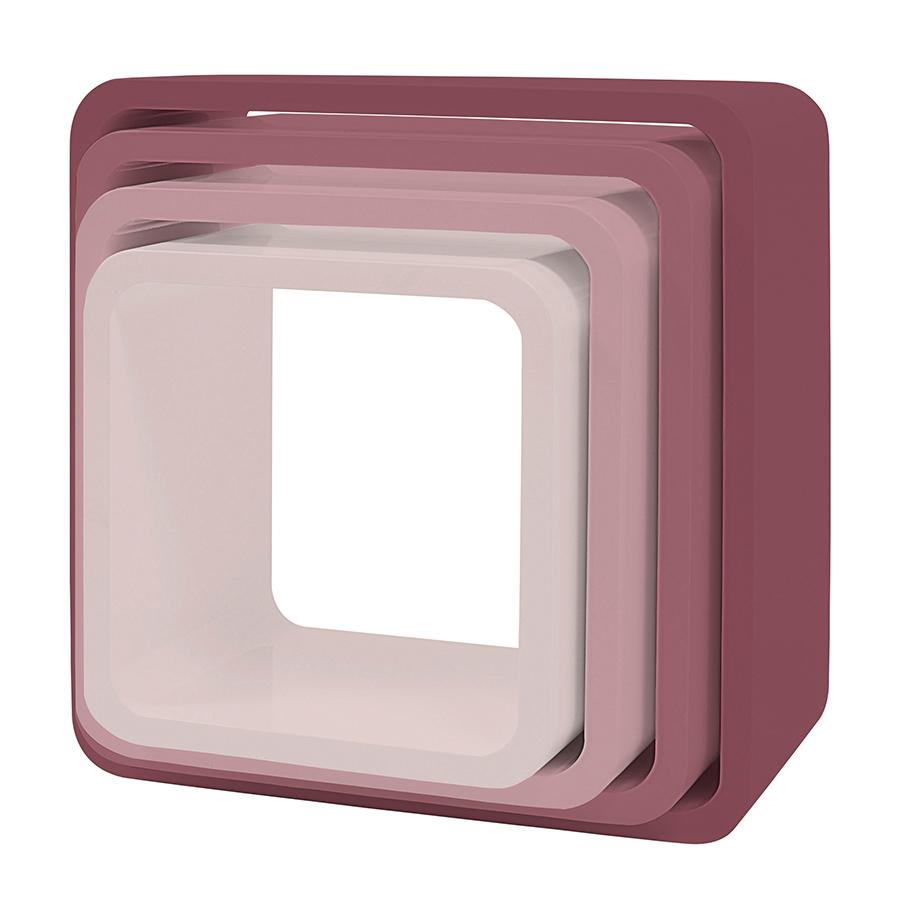 sebra cube regale 4er set quadratisch matte altrosa online kaufen emil paula kids. Black Bedroom Furniture Sets. Home Design Ideas