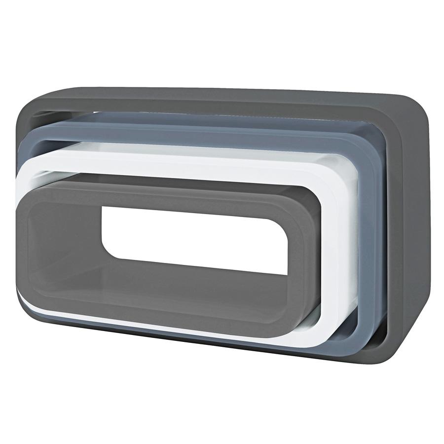sebra cube regale 4er set oval matte grau online kaufen emil paula kids. Black Bedroom Furniture Sets. Home Design Ideas