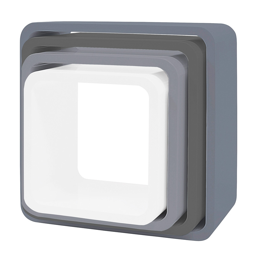 sebra cube regale 4er set quadratisch matte grau online. Black Bedroom Furniture Sets. Home Design Ideas