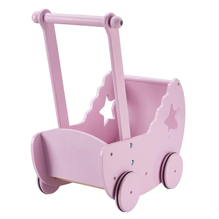 kids concept puppenwagen mit decke und matratze rosa. Black Bedroom Furniture Sets. Home Design Ideas