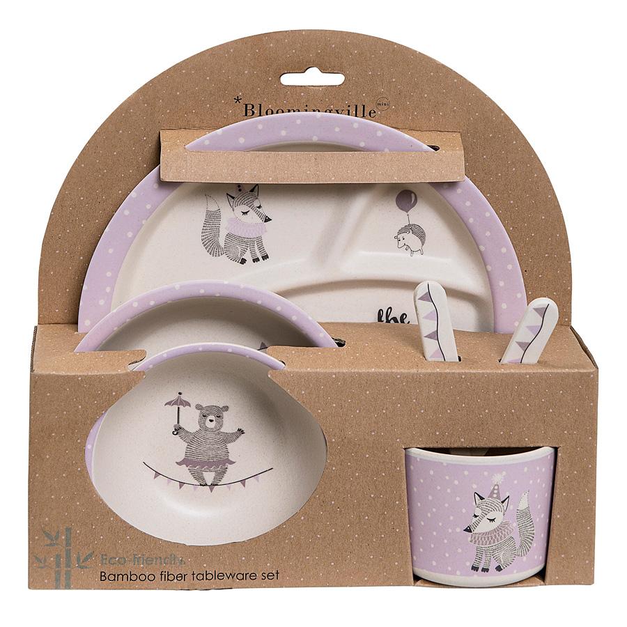 bloomingville geschirr set join the circus offwhite light purple 6er set online kaufen emil. Black Bedroom Furniture Sets. Home Design Ideas