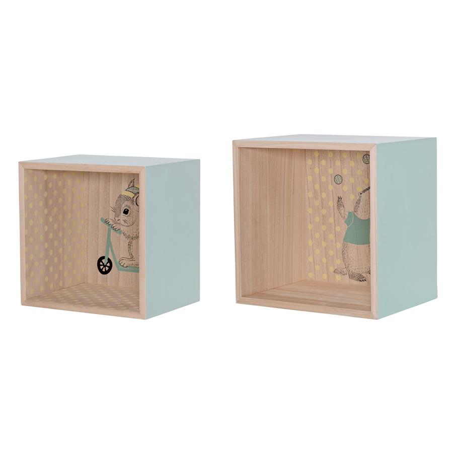 bloomingville display boxen regal mint 2er set online kaufen emil paula kids. Black Bedroom Furniture Sets. Home Design Ideas