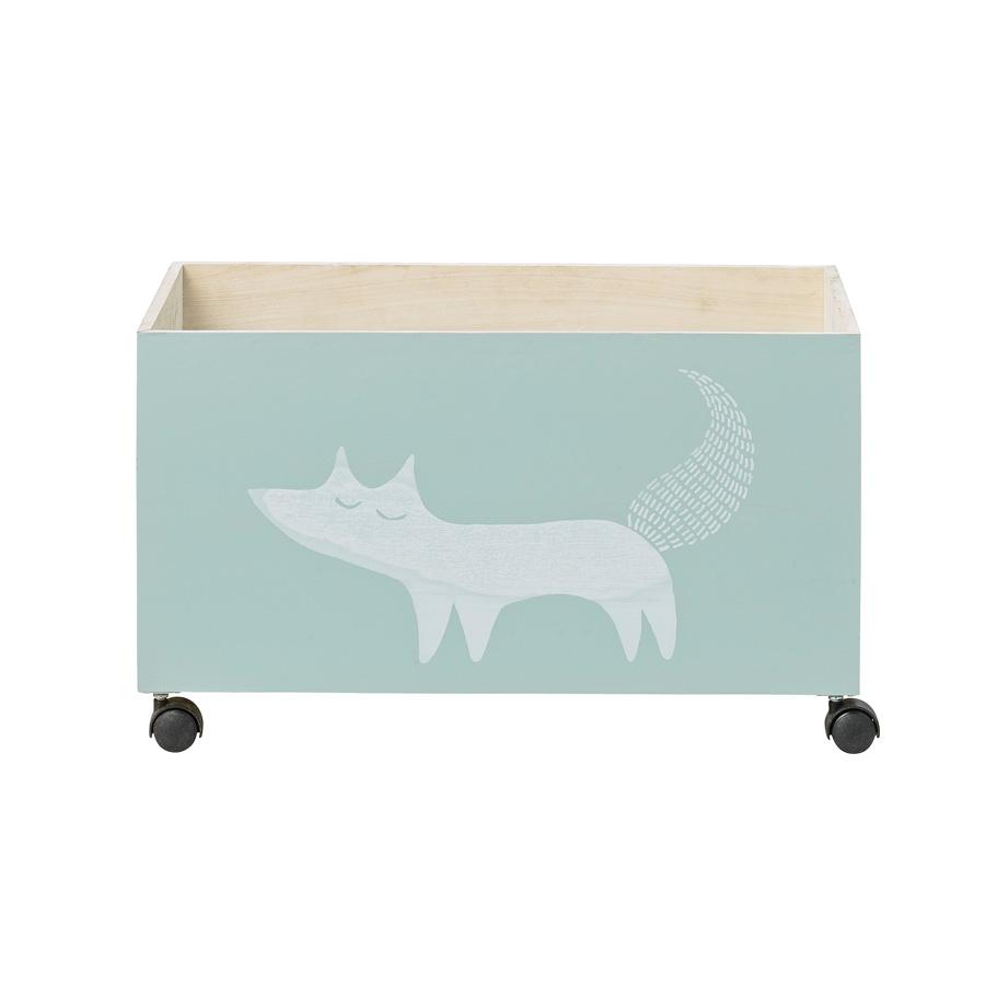 bloomingville aufbewahrungskiste mit rollen fox online kaufen emil paula kids. Black Bedroom Furniture Sets. Home Design Ideas