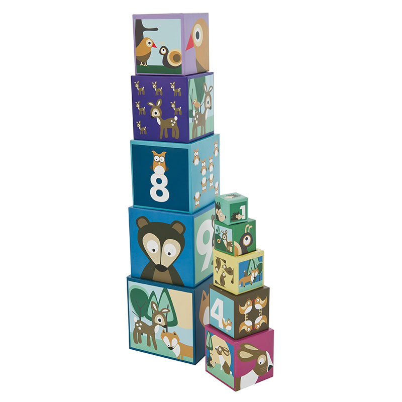 Sebra stapelboxen forest online kaufen emil paula kids - Stapelboxen kinderzimmer ...