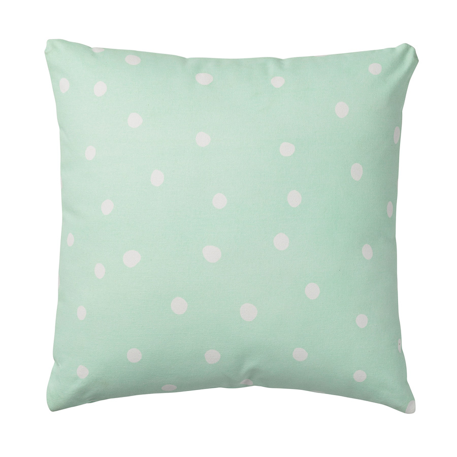 Bloomingville kissen big dots winter mint online kaufen for Grosse kissen kinderzimmer
