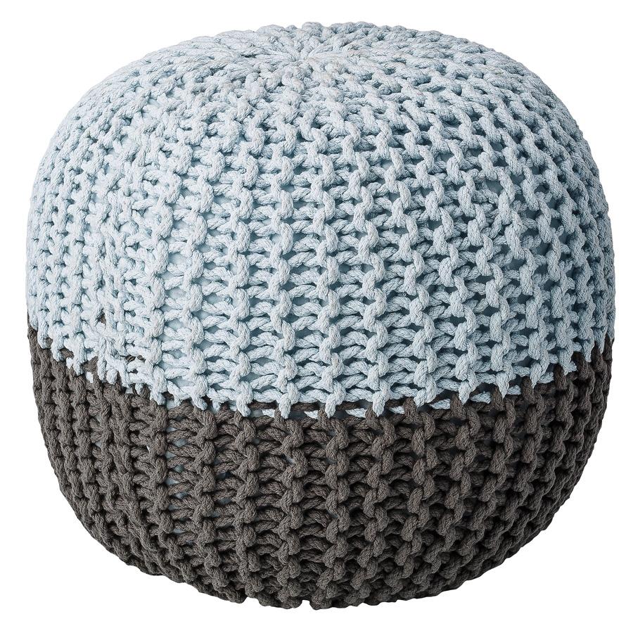 bloomingville sitzkissen pouf grey sky blue online kaufen emil paula kids. Black Bedroom Furniture Sets. Home Design Ideas