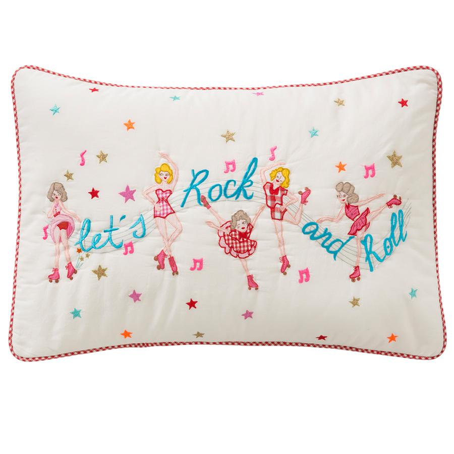 room seven kissenbezug rollerskate girls wei 40 x 60 cm online kaufen emil paula kids. Black Bedroom Furniture Sets. Home Design Ideas
