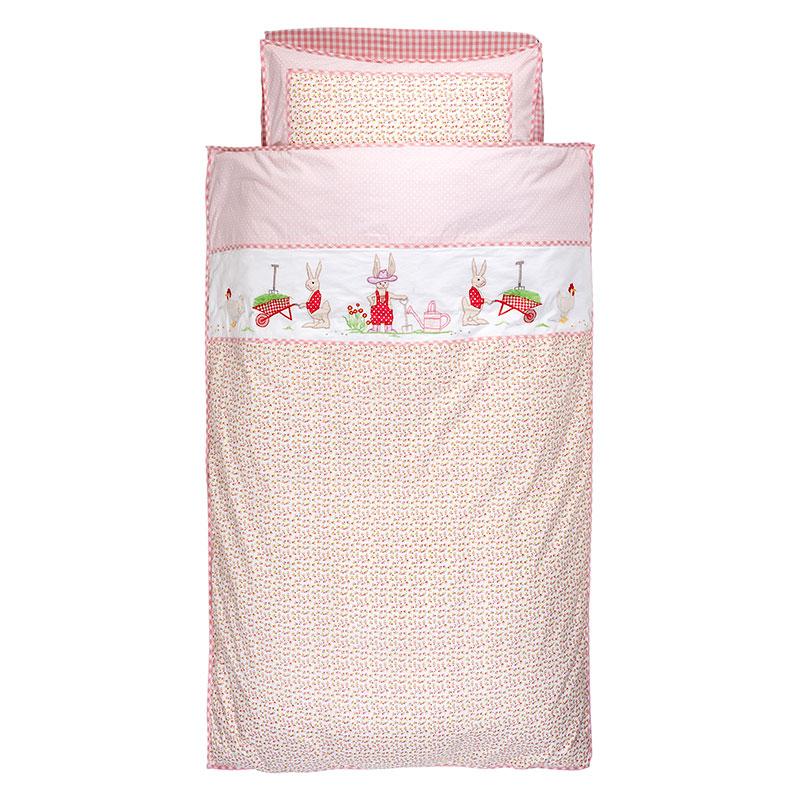 Room Seven Bettwäsche Rabbit Gardening Pink Online Kaufen Emil