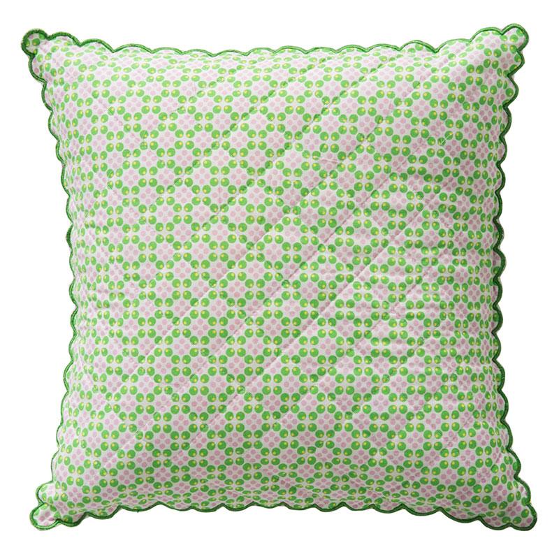 room seven kissenbezug scallops dots gr n pink 40x40 online kaufen emil paula kids. Black Bedroom Furniture Sets. Home Design Ideas