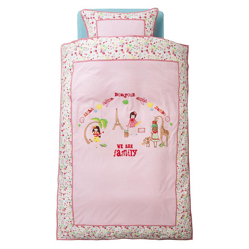 room seven bettw sche we are family pink wei online kaufen emil paula kids. Black Bedroom Furniture Sets. Home Design Ideas