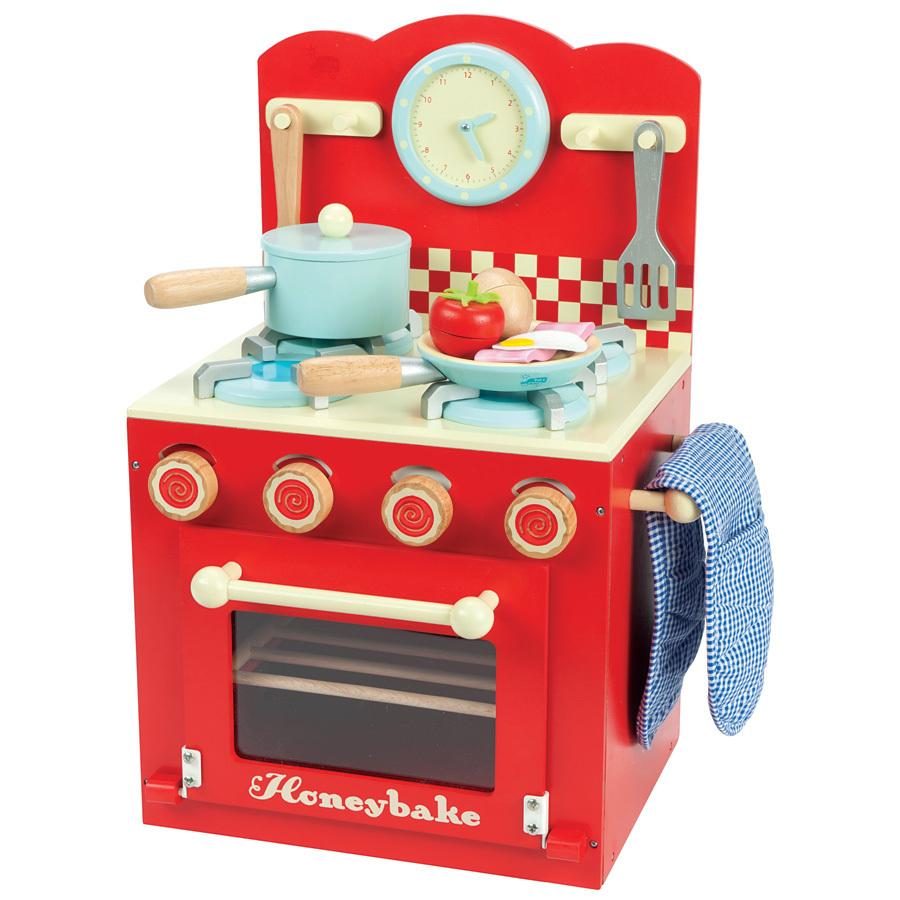 Le toy van set cuisine honeybake rouge acheter en ligne for Acheter cuisine en ligne