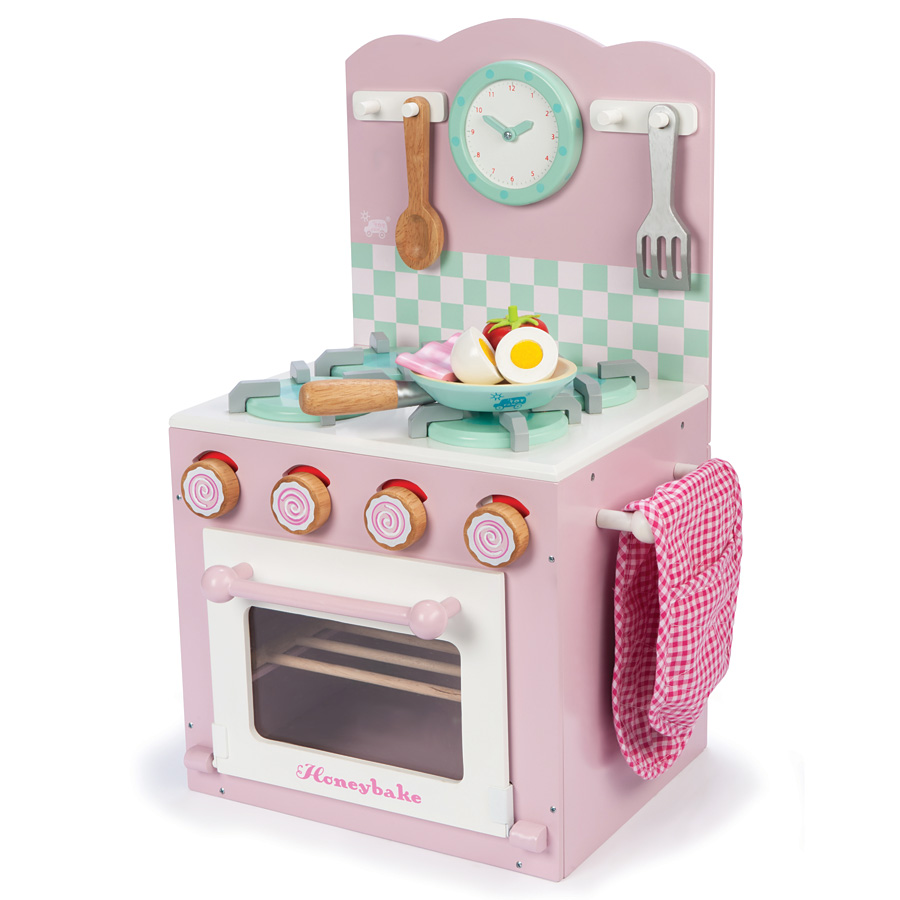 le toy van kinderk che backofen und herd rosa online kaufen emil paula kids. Black Bedroom Furniture Sets. Home Design Ideas