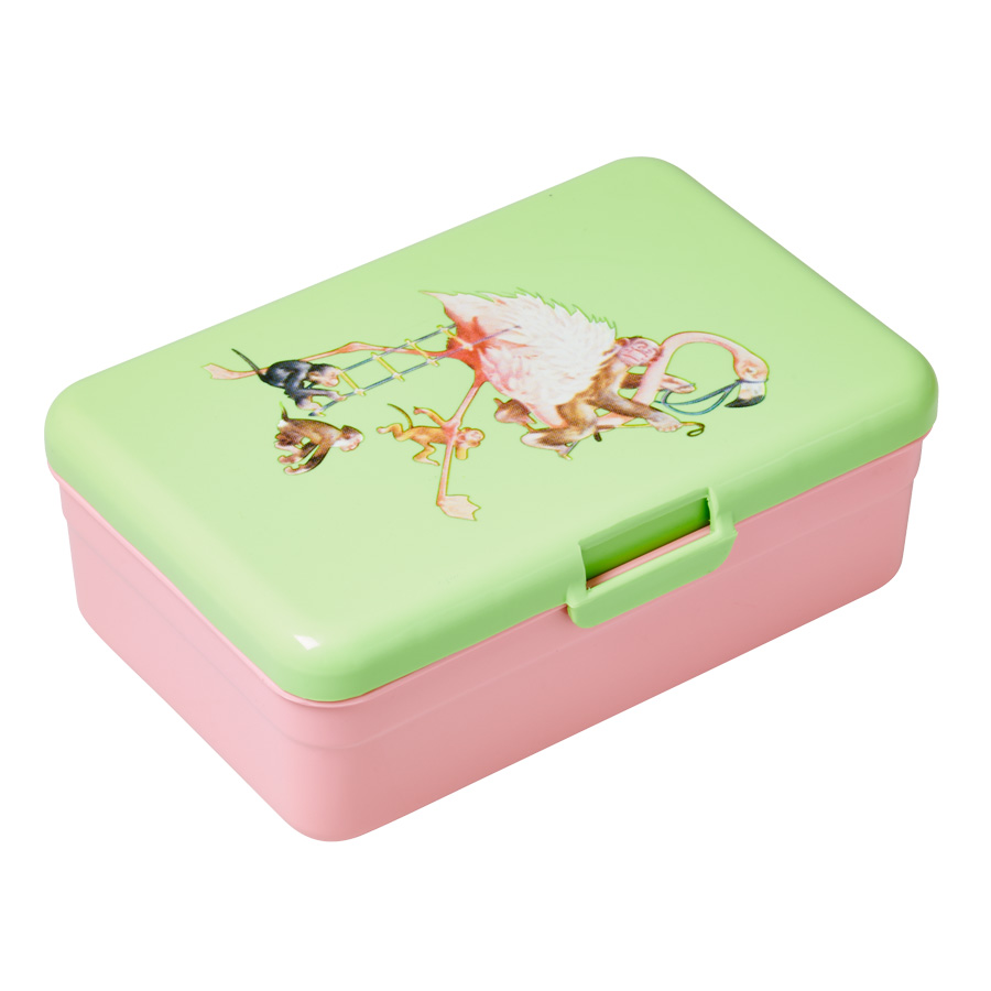 rice kinder lunchbox brotdose retro flamingo online kaufen emil paula kids. Black Bedroom Furniture Sets. Home Design Ideas