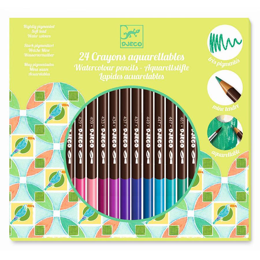 Farben 24.Djeco Farben 24 Watercolour Pencils